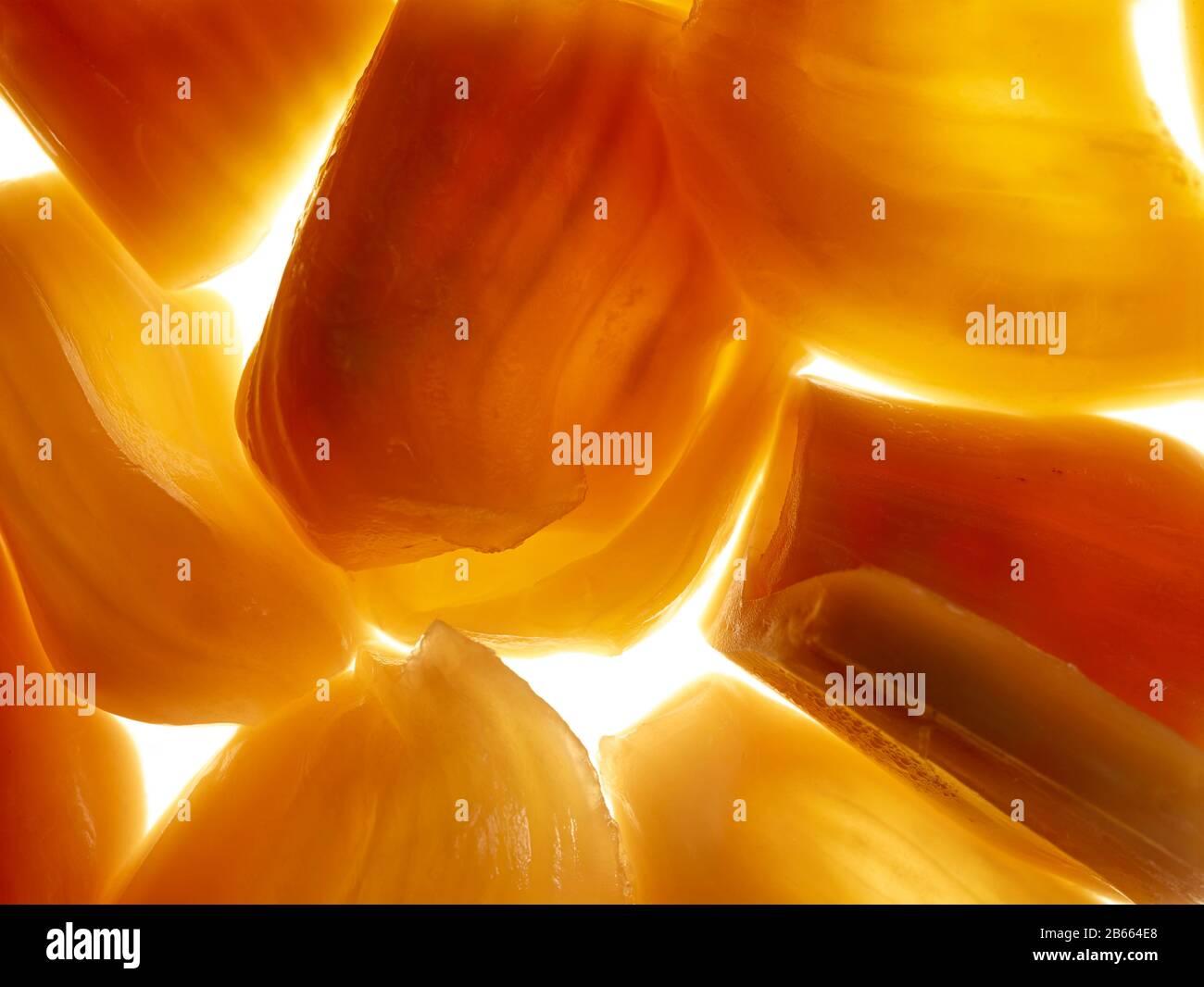 Jackfruit chunks food still life against white background Stock Photo