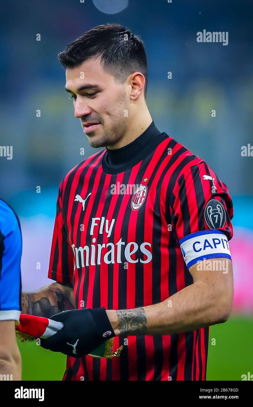 Alessio Romagnoli of AC Milan during italian soccer Serie A season ...