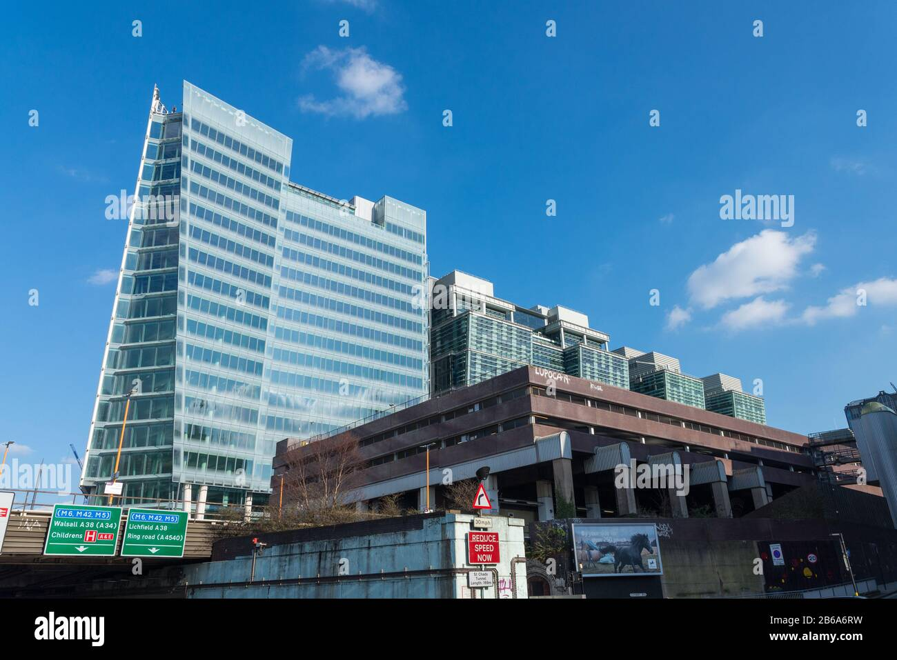Work on Three Snowhill which is the largest single office development in Birmingham has recently been completed. Snowhill station is in the foreground. Stock Photo
