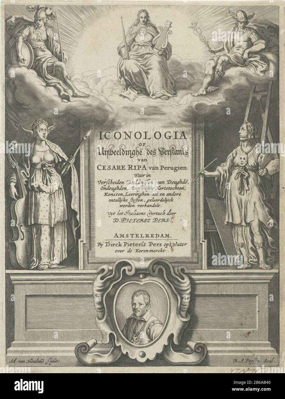 Allegory Of Poetry And Painting Title Page For Cesare Ripa