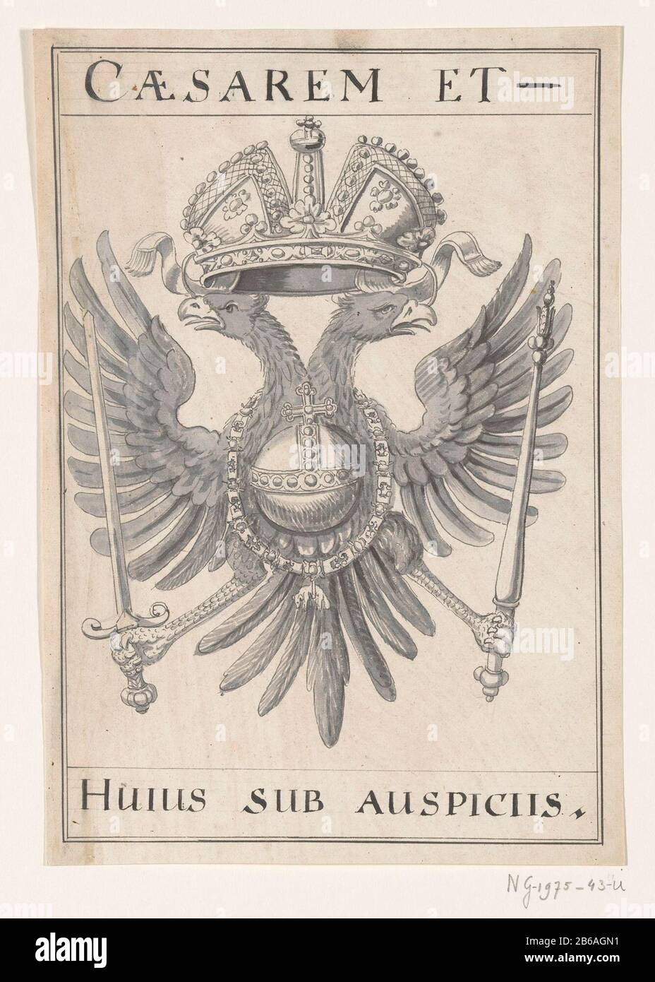 OFFICIAL RUSSIA Pommel on the banner Emblem two-headed eagle mounted figure !!