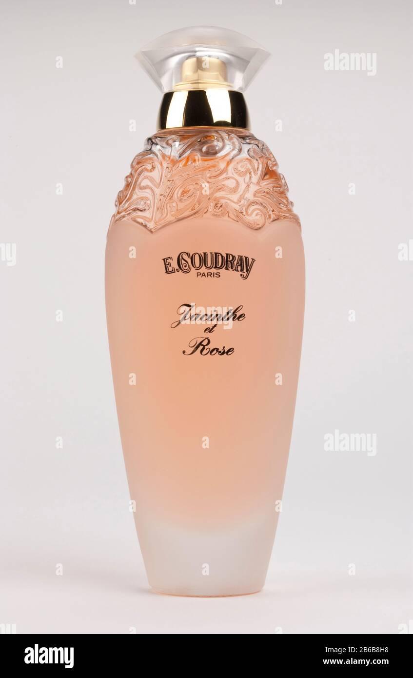 E. Coudray Paris scent. Perfume bottle. Stock Photo