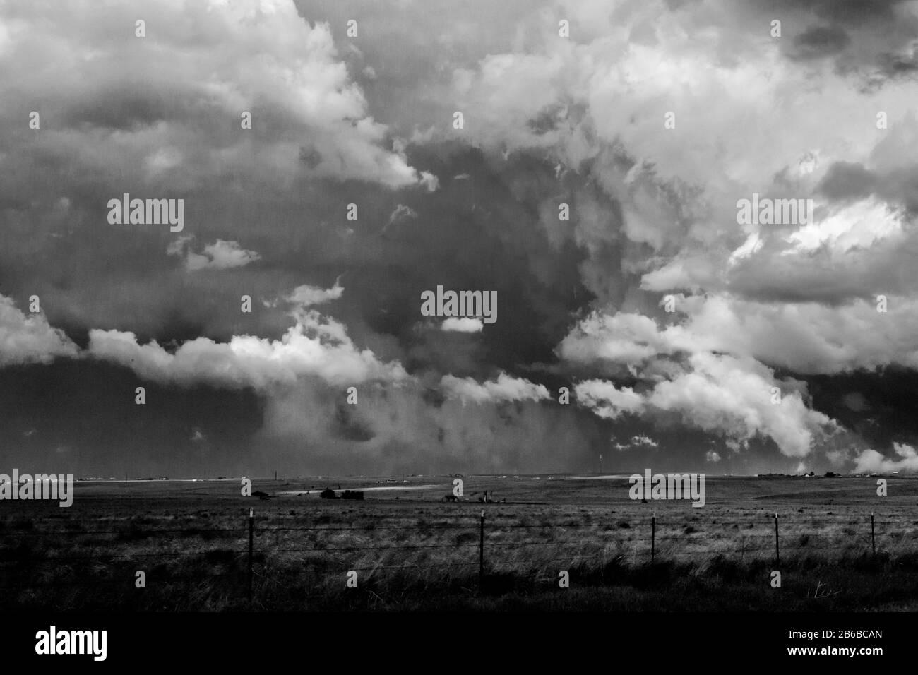 Tornado watch northeast of Denver Stock Photo