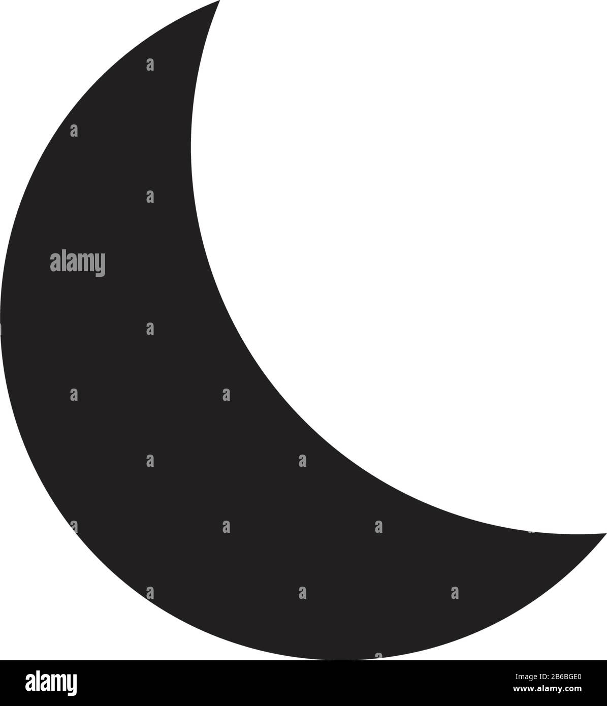 crescent moon evening or nighttime line art for apps and websites night mode stock vector illustration isolated on white background stock vector image art alamy alamy