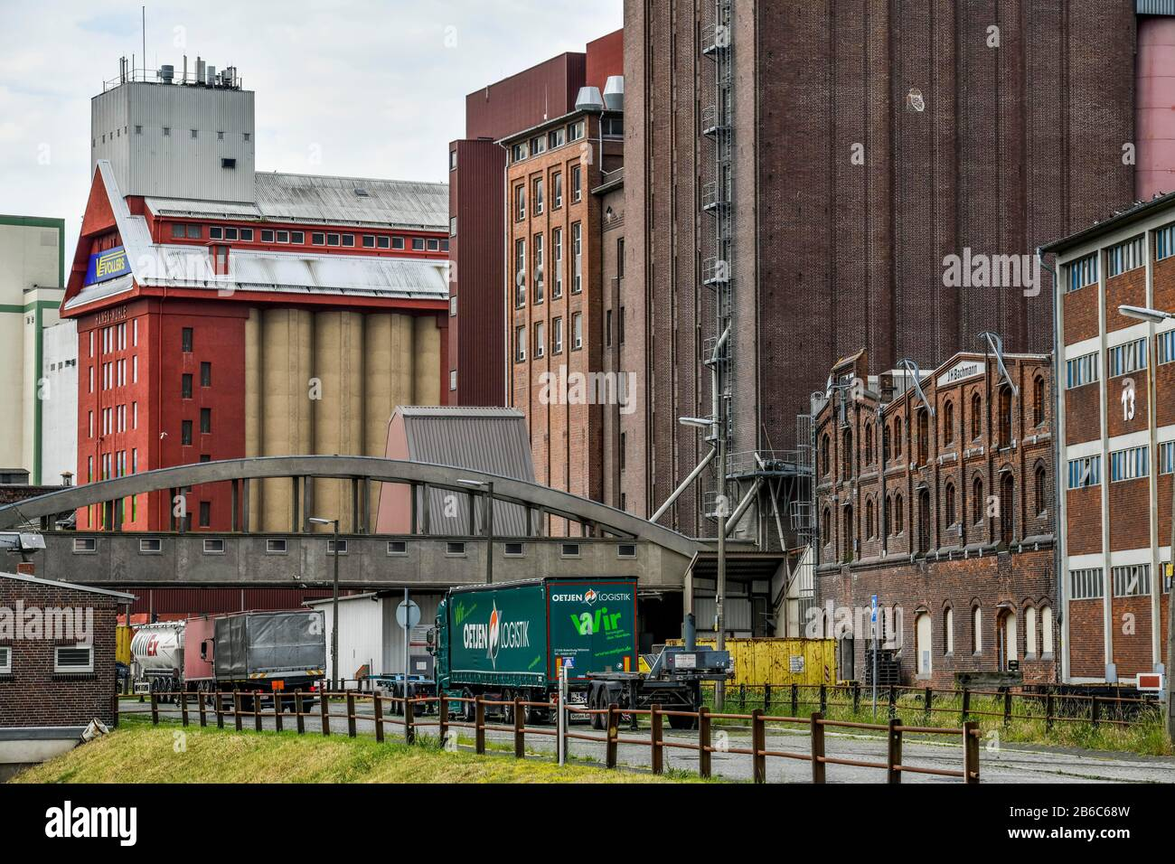 Lagerhäuser, Fabrikenufer, Überseestadt, Bremen, Deutschland Stock Photo