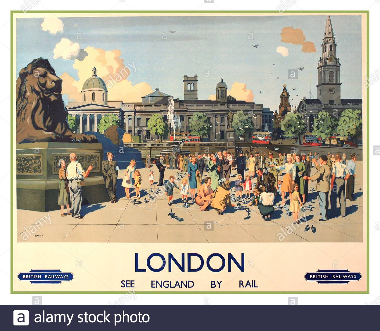 London England Great Britain UK United Kingdom  Travel Advertisement Art Poster