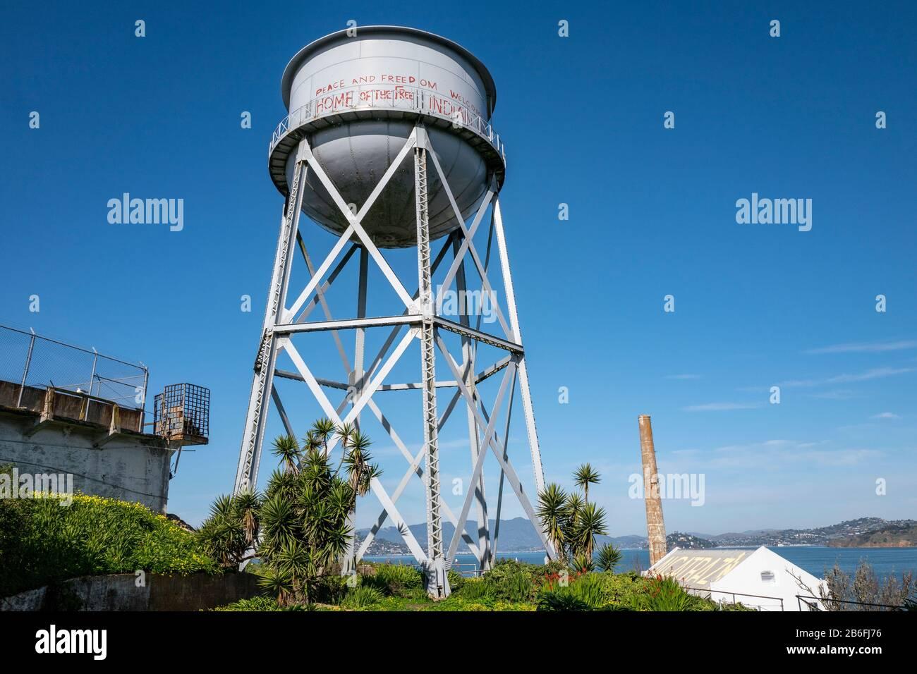 Alcatraz Federal Penitentiary prison in San Francisco, California,USA Stock Photo