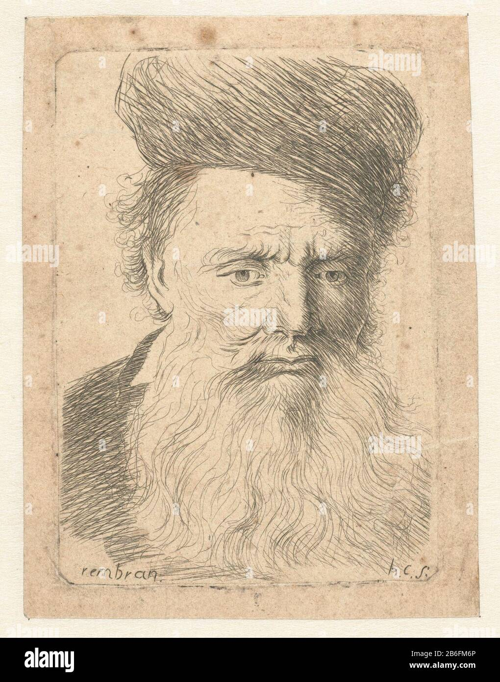 Bust Of An Old Man With Fur Hat And Long Beard The Look Down Bust Of An Old Man With Fur Hat And Long Beard The Look Down Object Type Picture Item
