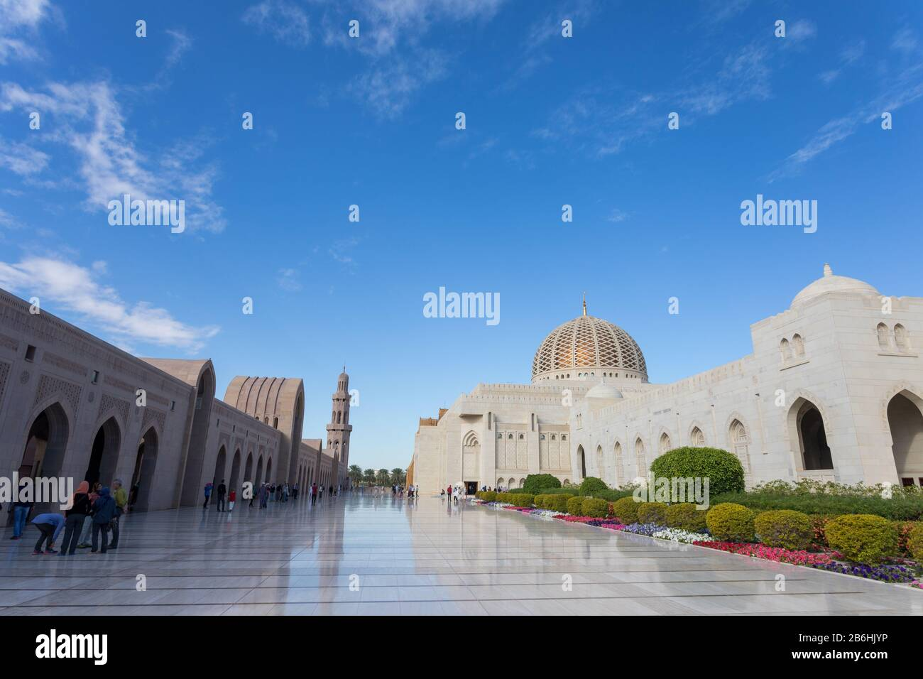 Muscat, Oman. Dec 2019: details of the Sultan Qaboos Grand Mosque. Sultanate of Oman. Stock Photo