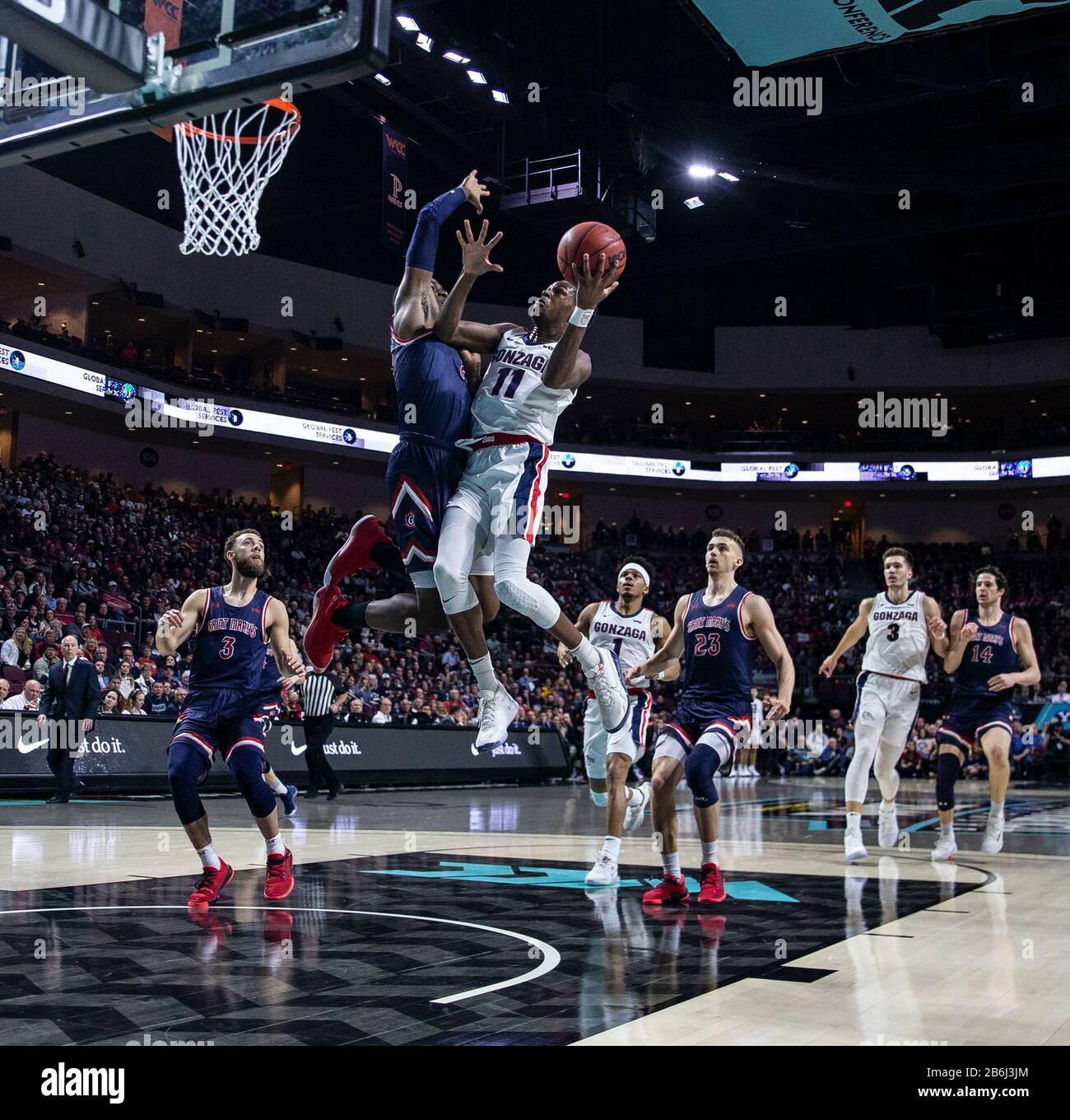 Mar 10 2020 Las Vegas, NV, U.S.A. Gonzaga Bulldogs guard Joel ...