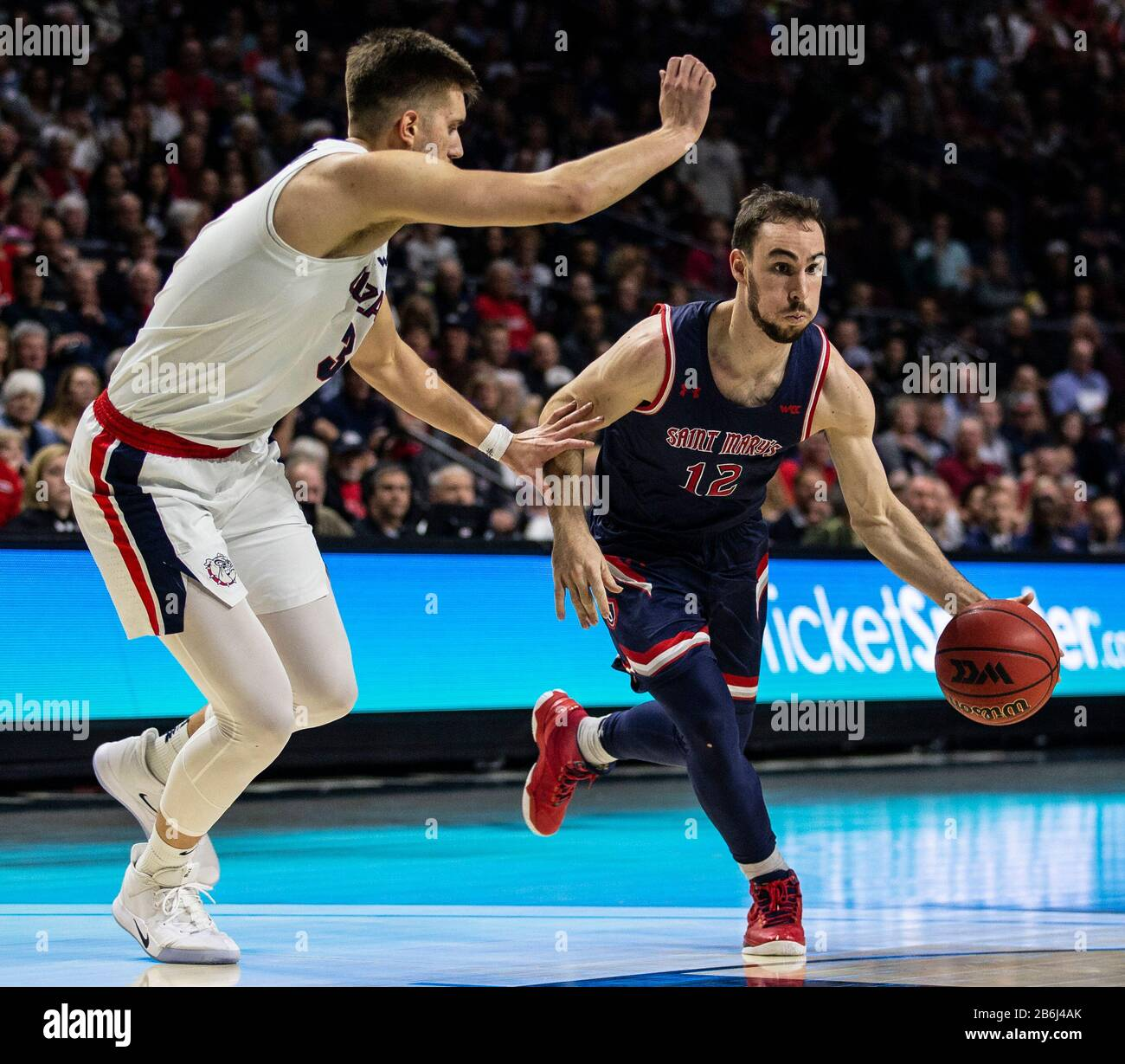Mar 10 2020 Las Vegas, NV, U.S.A. St. Mary's Gaels guard Tommy ...