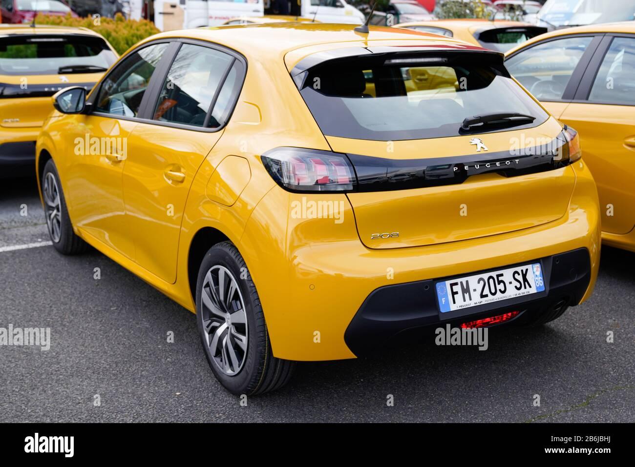 Bordeaux Aquitaine France 02 01 2020 Peugeot 208 Gt Line Rear View New Modern Vehicle Stock Photo Alamy
