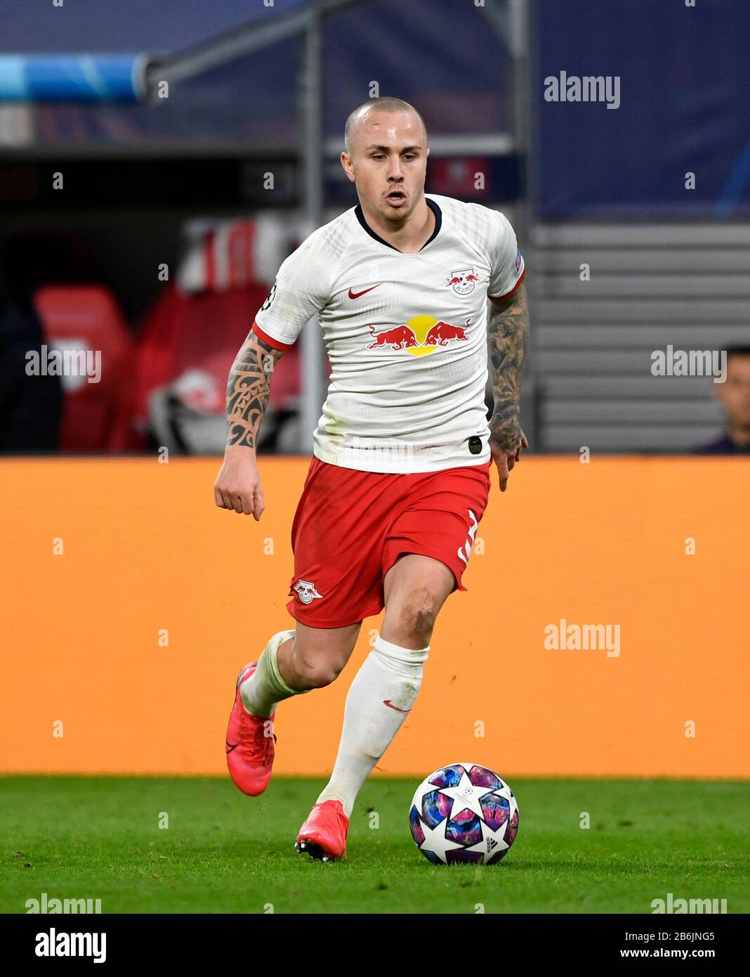 Angelino L Football Champions League Round Of 16 Reverse Rb Leipzig L Tottenham Hotspur Tth 3 0 On March 10th 2020 In Leipzig Germany A Usage Worldwide Stock Photo Alamy