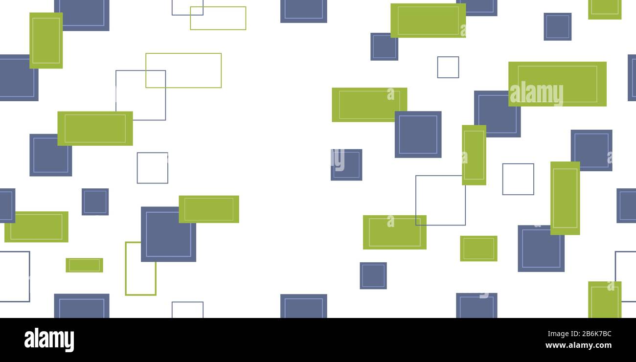 Seamless pattern from rectangles and squares. Vector illustration. Isolated elements on a white background. Stock Vector