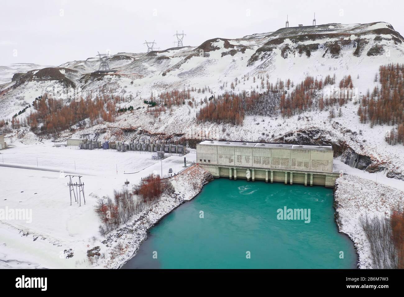 Burfellsvirkjun Hydro Power Plant, Thjorsardalur, Iceland Stock Photo