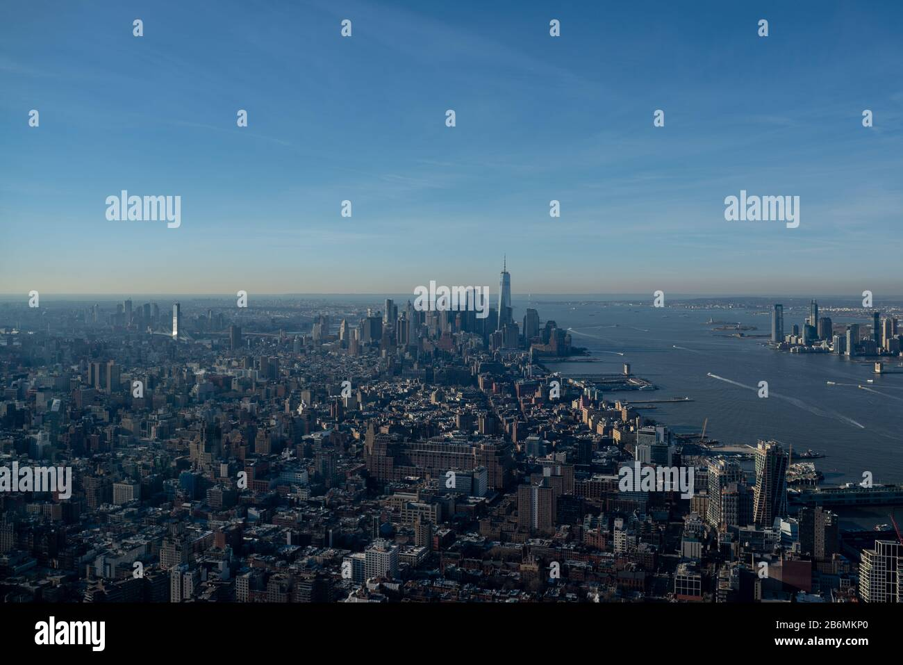 New York, New York, USA. 11th Mar, 2020. New York, New York, U.S.: Edge, the sky high attraction in the heart of Hudson Yards, officially opens to the public and offers a unique vantage point on the western side of Manhattan. Credit: Corine Sciboz/ZUMA Wire/Alamy Live News Stock Photo