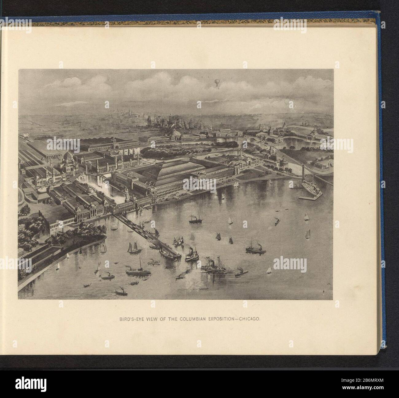 """1893 Columbian Exposition Chicago IL Map Art Print 13/"""" x 19/"""" Reproduction"""