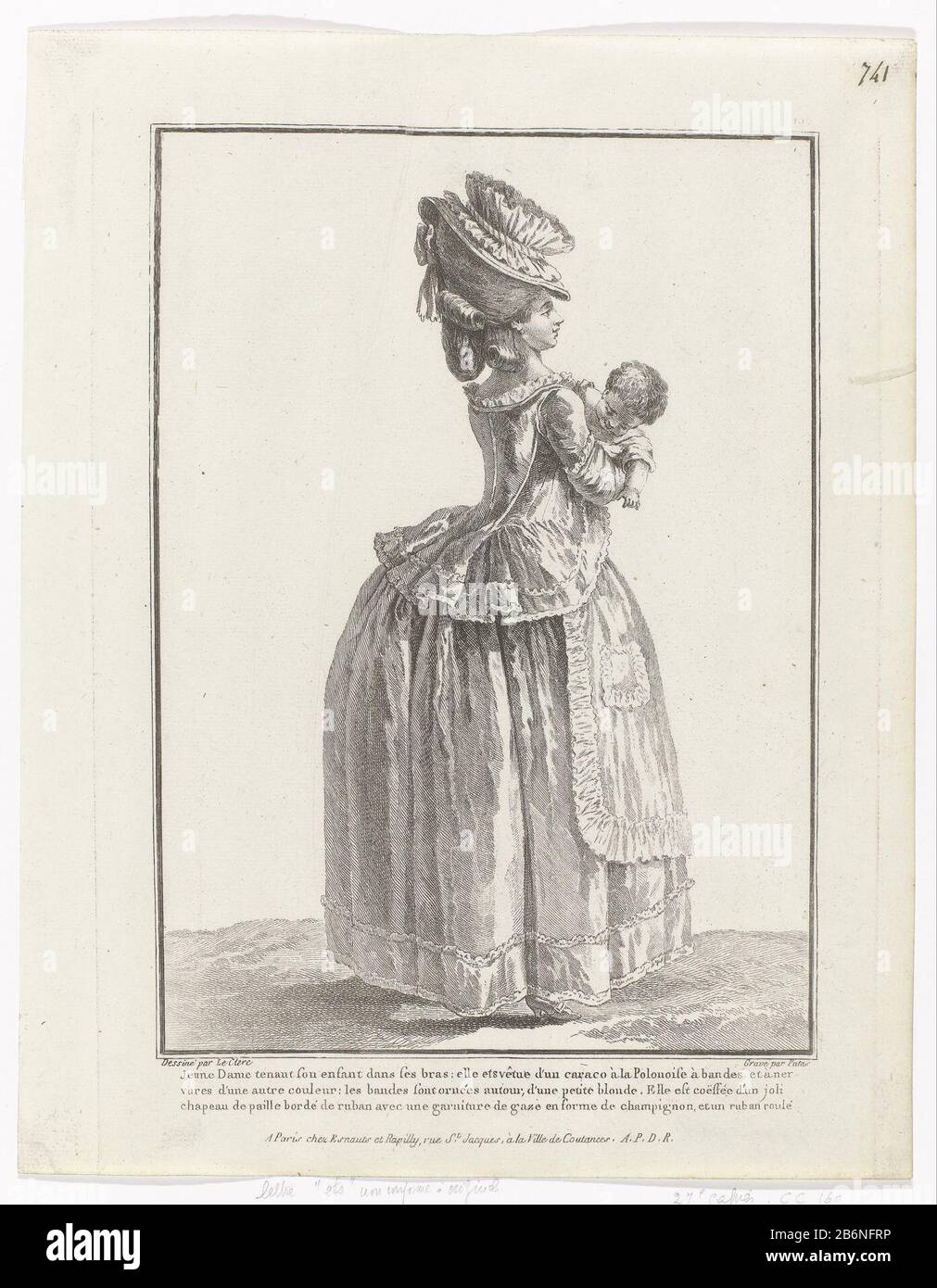 Www Ets Thomas Fr young woman, obliquely seen from the back, with a child in