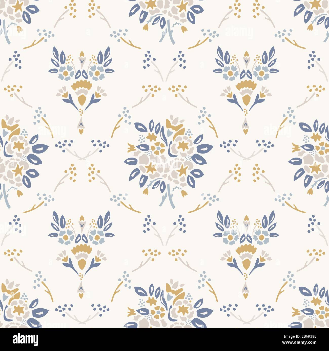 French Shabby Chic Damask Vector Texture Background Dainty Flower