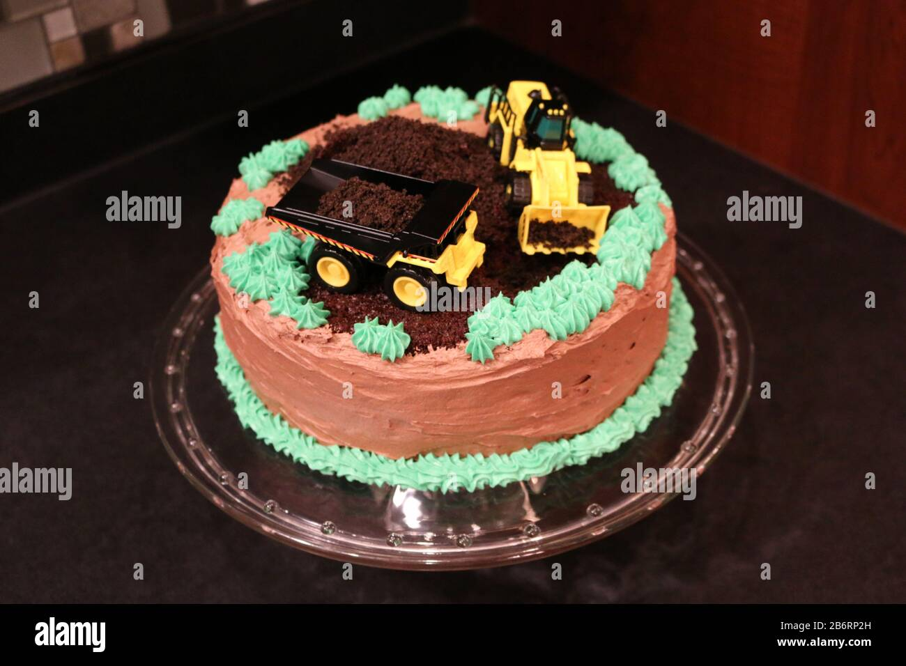 Marvelous Construction Theme Chocolate Birthday Cake For Child Birthday Funny Birthday Cards Online Eattedamsfinfo