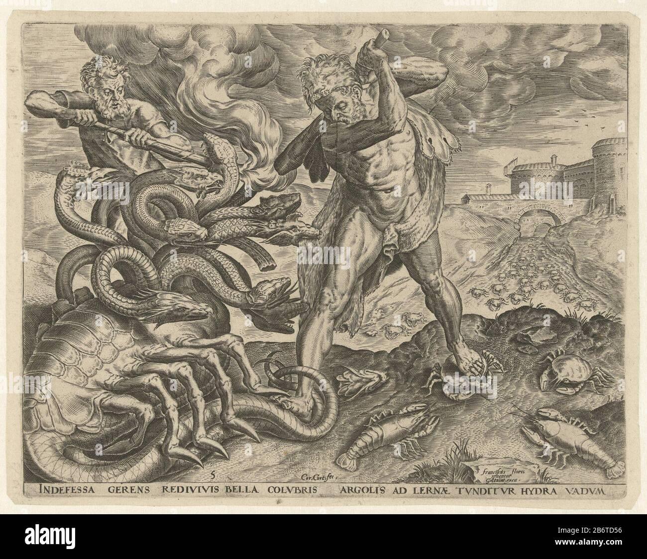 Hercules overwint de hydra van Lerna Werken van Hercules ...