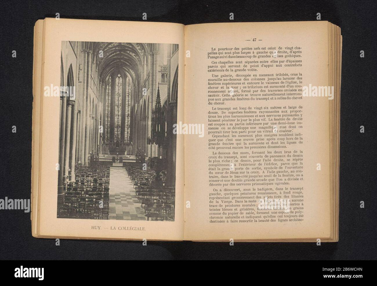 Interior of the Collegiate Church of Our Lady and of Domitian HoeiHuy. La Collégiale (title object) Property Type: photomechanical print page Item number: RP-F 2001-7-1173-5 Manufacturer : Photographer: V. Gaillard (attributed to) clichémaker E. Aubry (attributed to) Place manufacture: Photographer: Hoeiclichémaker : Brussels Date: ca. 1885 - or for 1890 Material: paper Technique: light pressure measurements: imprinted: h 158 mm × W 105 mmToelichtingPrent front page 47. Subject: interior of church where: Huy Stock Photo