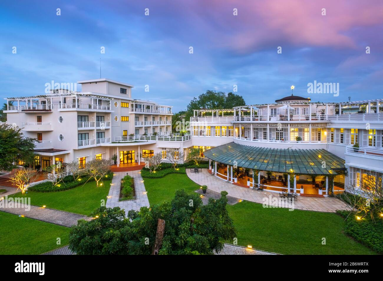 Southeast Asia, Vietnam, The Azerai La Residence hotel in Hue - a historical city and world heritage site Stock Photo