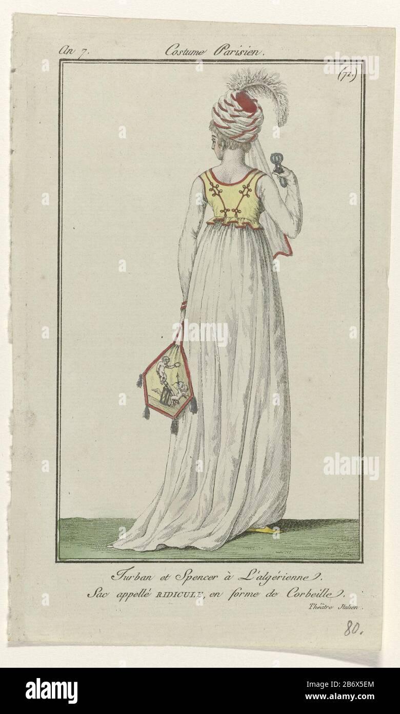 Journal Des Dames Et Des Modes Vrouwenmode Journal Des Dames Et Des Modes Costume Parisien 1