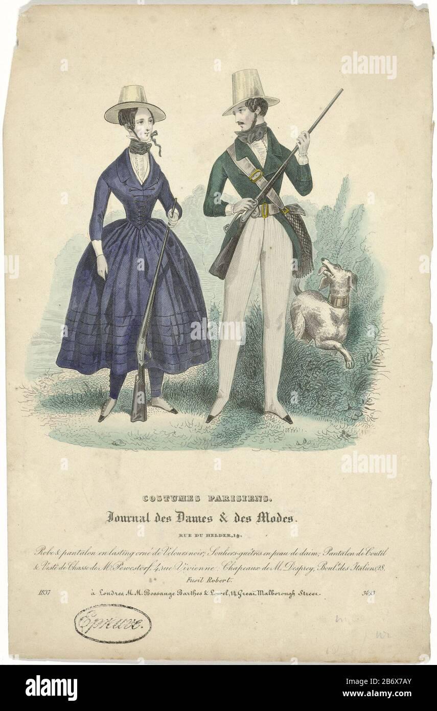Journal Des Dames Et Des Modes Costumes Parisiens 1837 3493