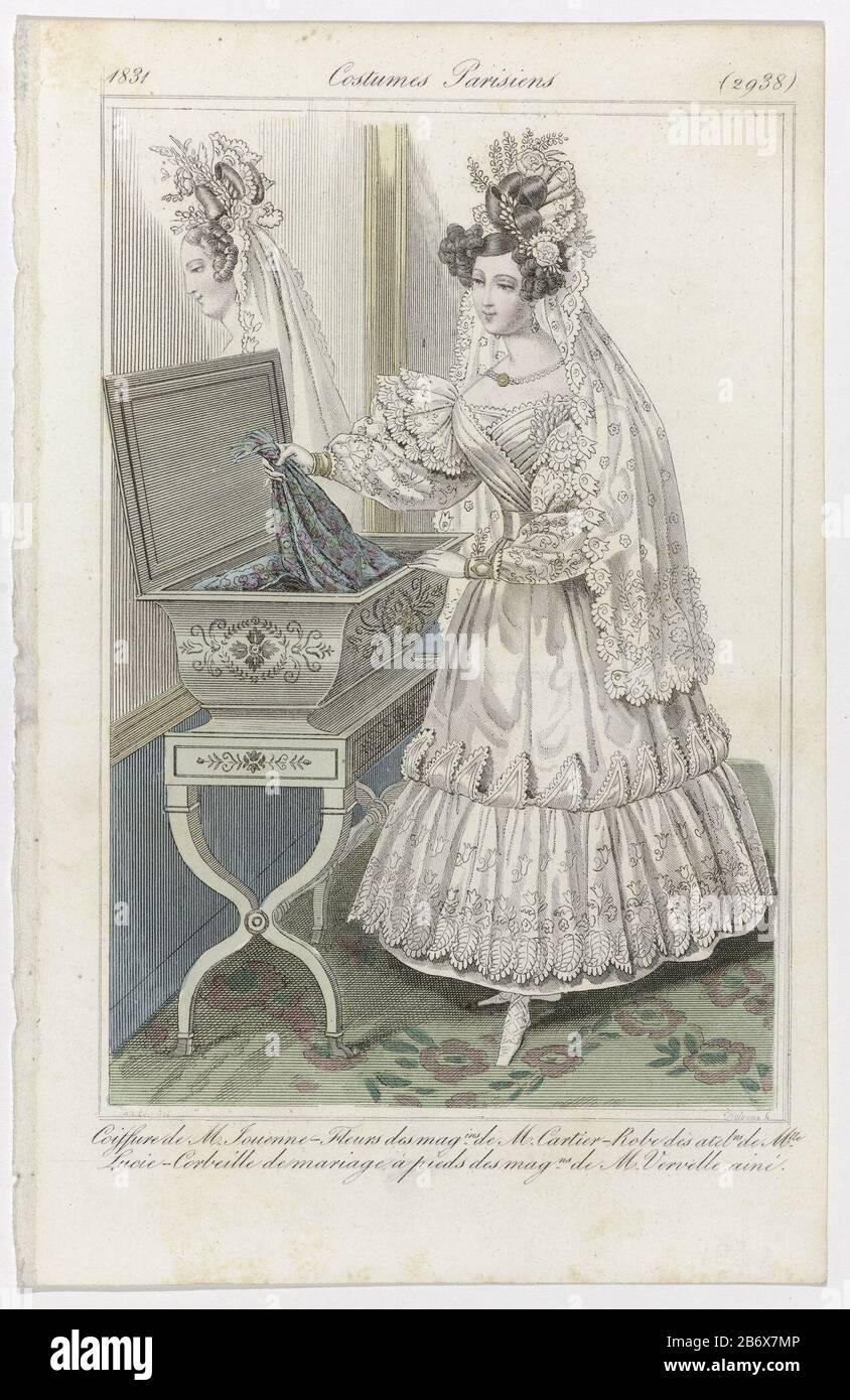Journal Des Dames Et Des Modes Costumes Parisiens 25 Novembre 1831 2938 Coiffure De M Jouenn