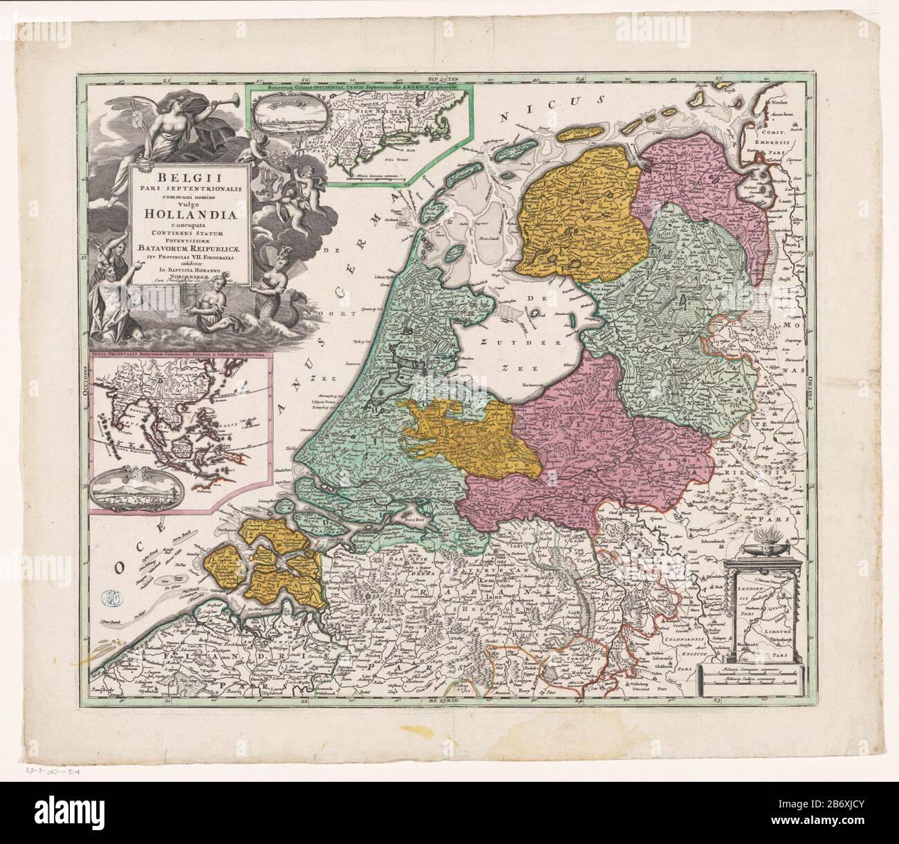 Kaart Van De Republiek Der Zeven Verenigde Nederlanden Belgii Pars