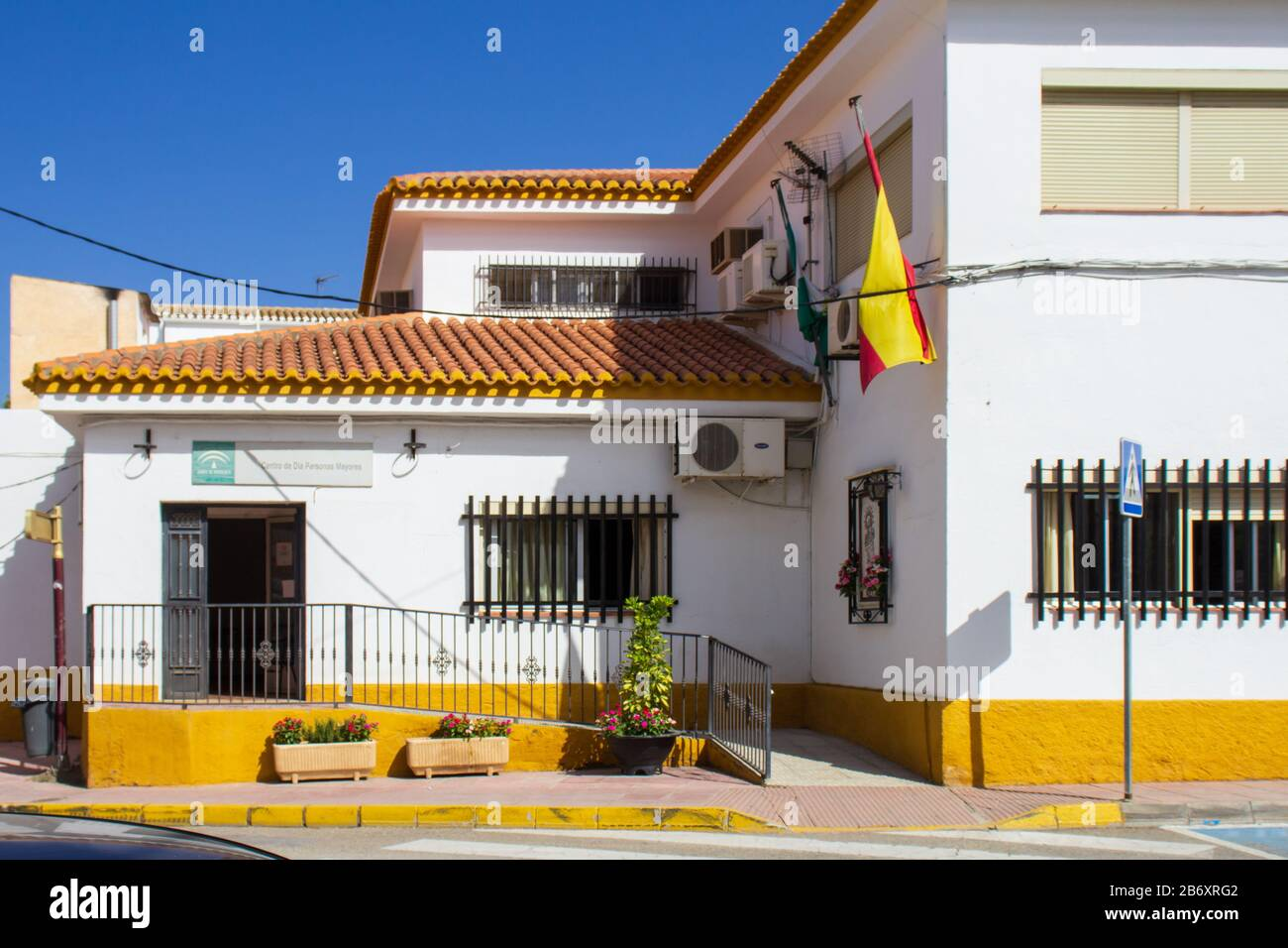 Elderly Persons Day Center in Albox Andalucia Spain Stock Photo