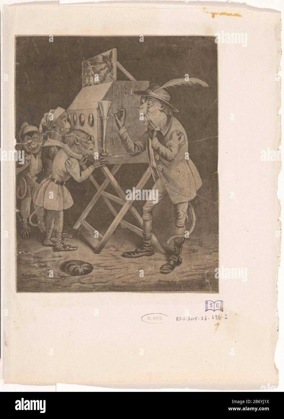Hedendaags Kijkkast met apen Three monkeys in children for check box on KV-05
