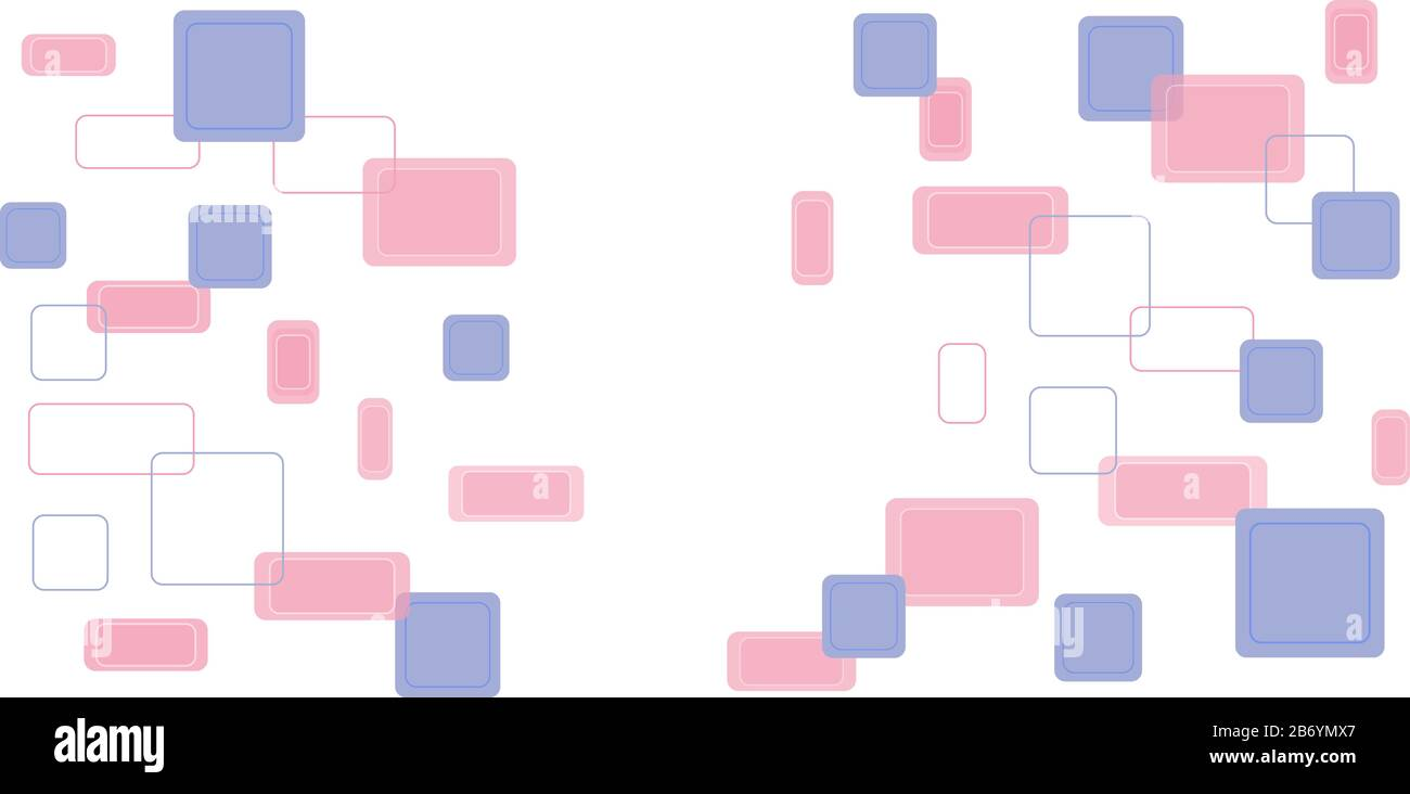 Seamless pattern from rectangles and squares. Isolated elements on a white background. Stock Vector