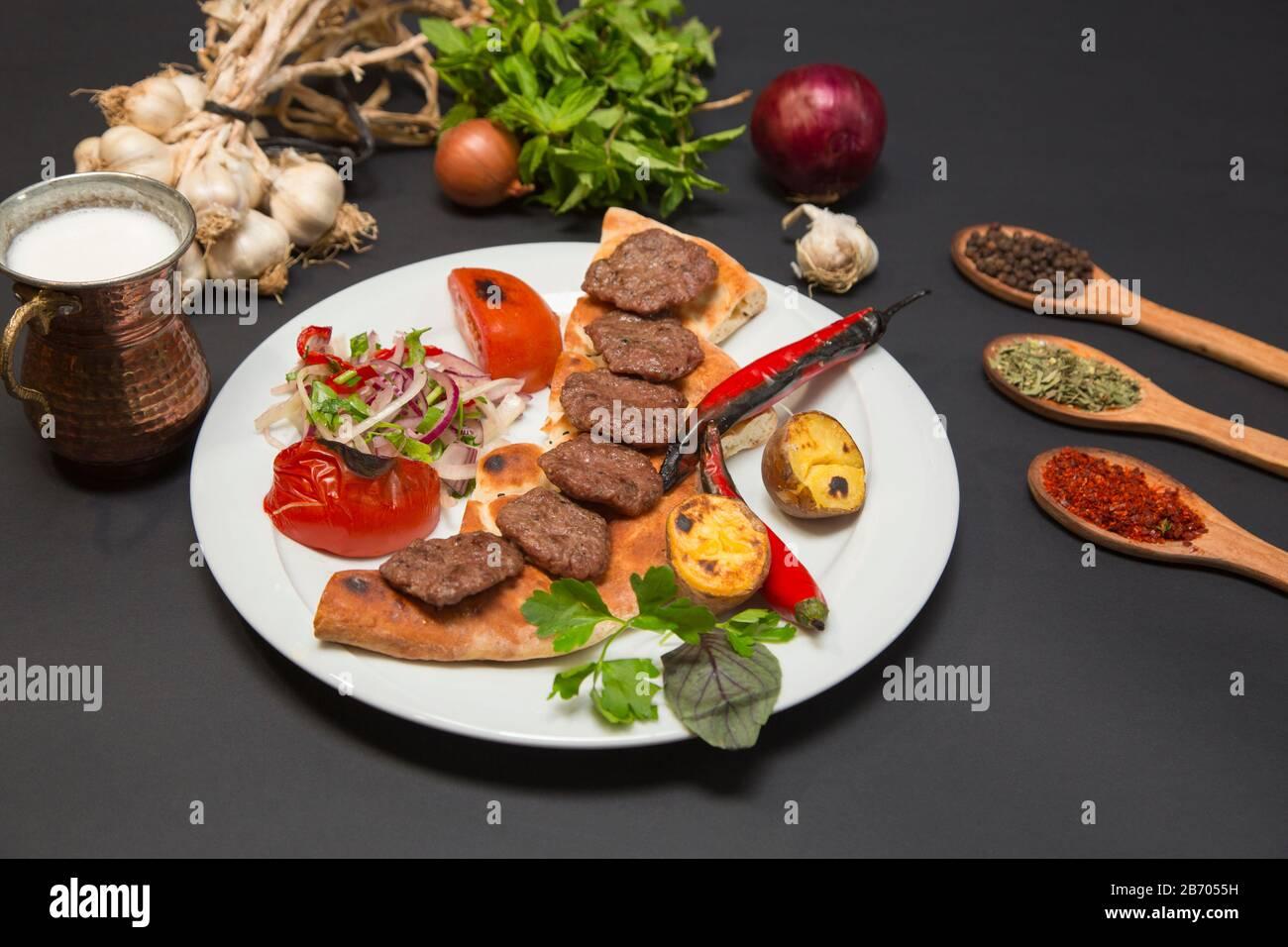 Food  kebab from turkish cuisine Stock Photo
