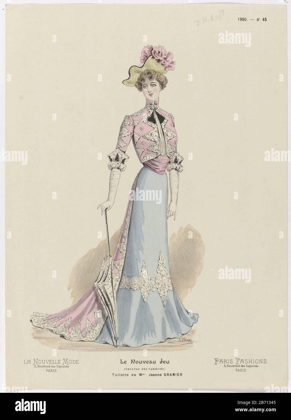 La Nouvelle Mode Le Nouveau Jeu Paris Fashions 1900 No 45 Toilette De Mme Jeanne Granier