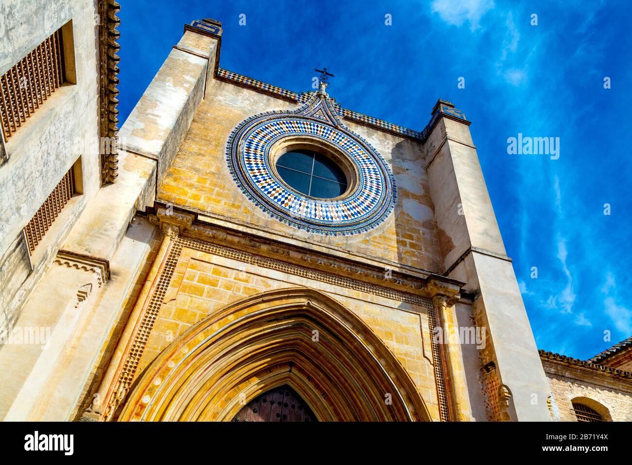 Andalusian Museum of Contemporary Art (Centro Andaluz de Arte Contemporáneo) in a former Monastery of Santa Maria de las Cuevas, Seville, Spain Stock Photo