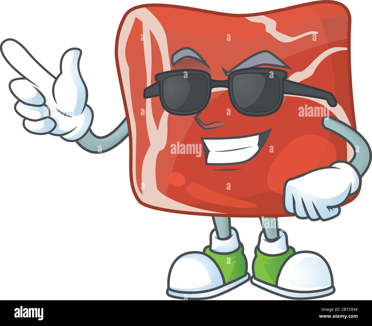 cute beef cartoon character design style with black glasses stock vector image art alamy https www alamy com cute beef cartoon character design style with black glasses image348561168 html