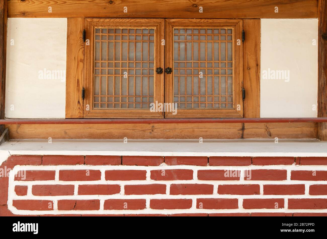 Traditional house in Bukchon Hanok village, Seoul, South Korea Stock Photo