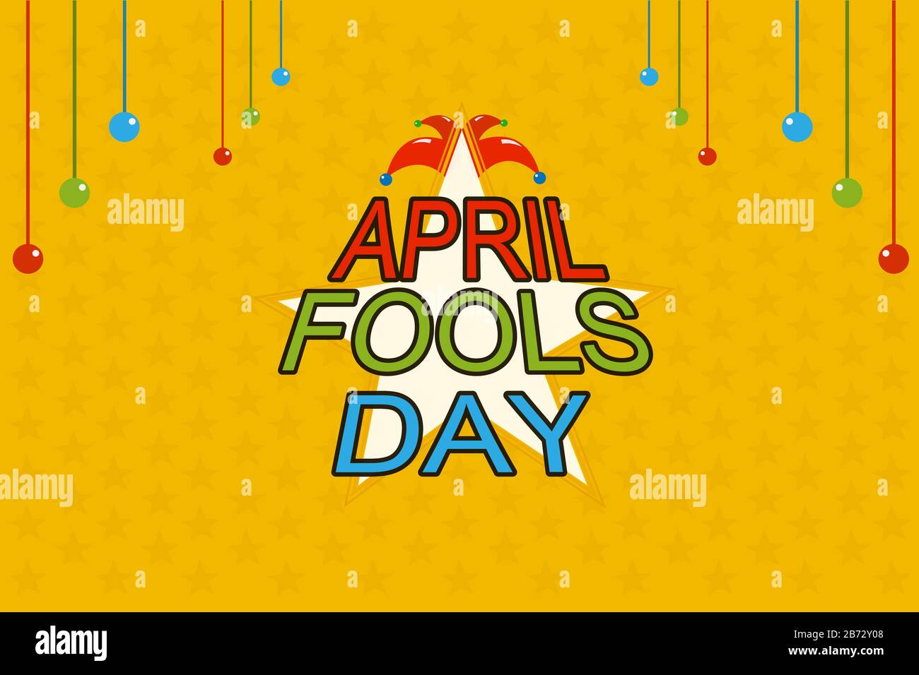 April Fools Day with star background flat design holiday presentation Stock  Photo - Alamy