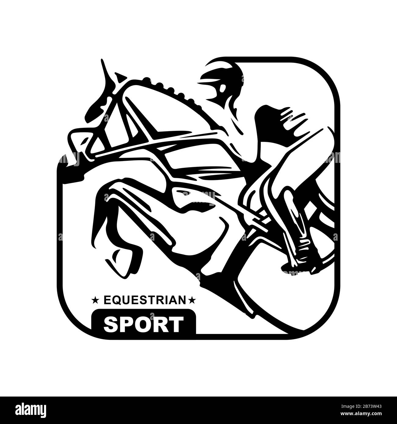 Logo Design Icons Silhouette Of Racing Horse With Jockey Equestrian Sport Poster Sport Jockey Riding Jumping Horse Vector Illustration Stock Vector Image Art Alamy