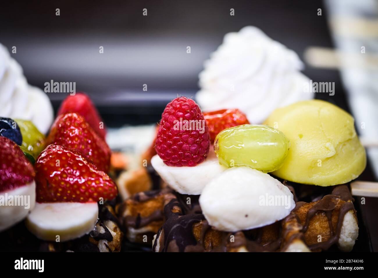 delicious mix mini cakes close up Stock Photo