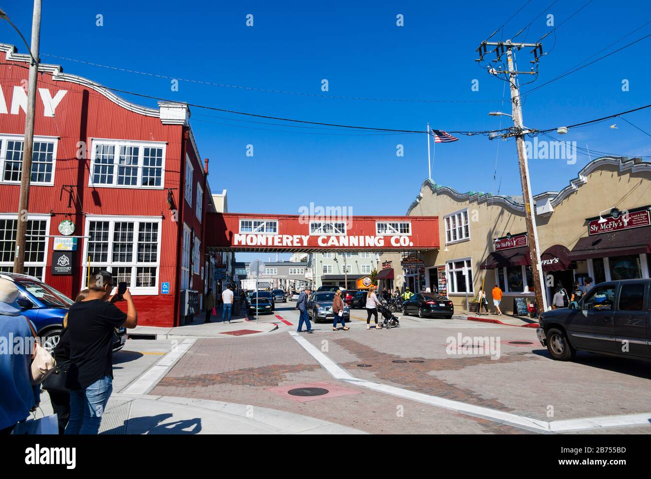 Cannery Row and sardine factories, Monterey, California, USA Stock Photo