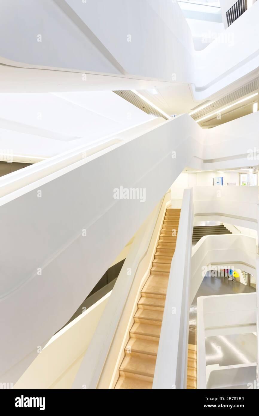 Jockey Club Innovation Tower, Hong Kong Polytechnic University, Hong Kong Stock Photo