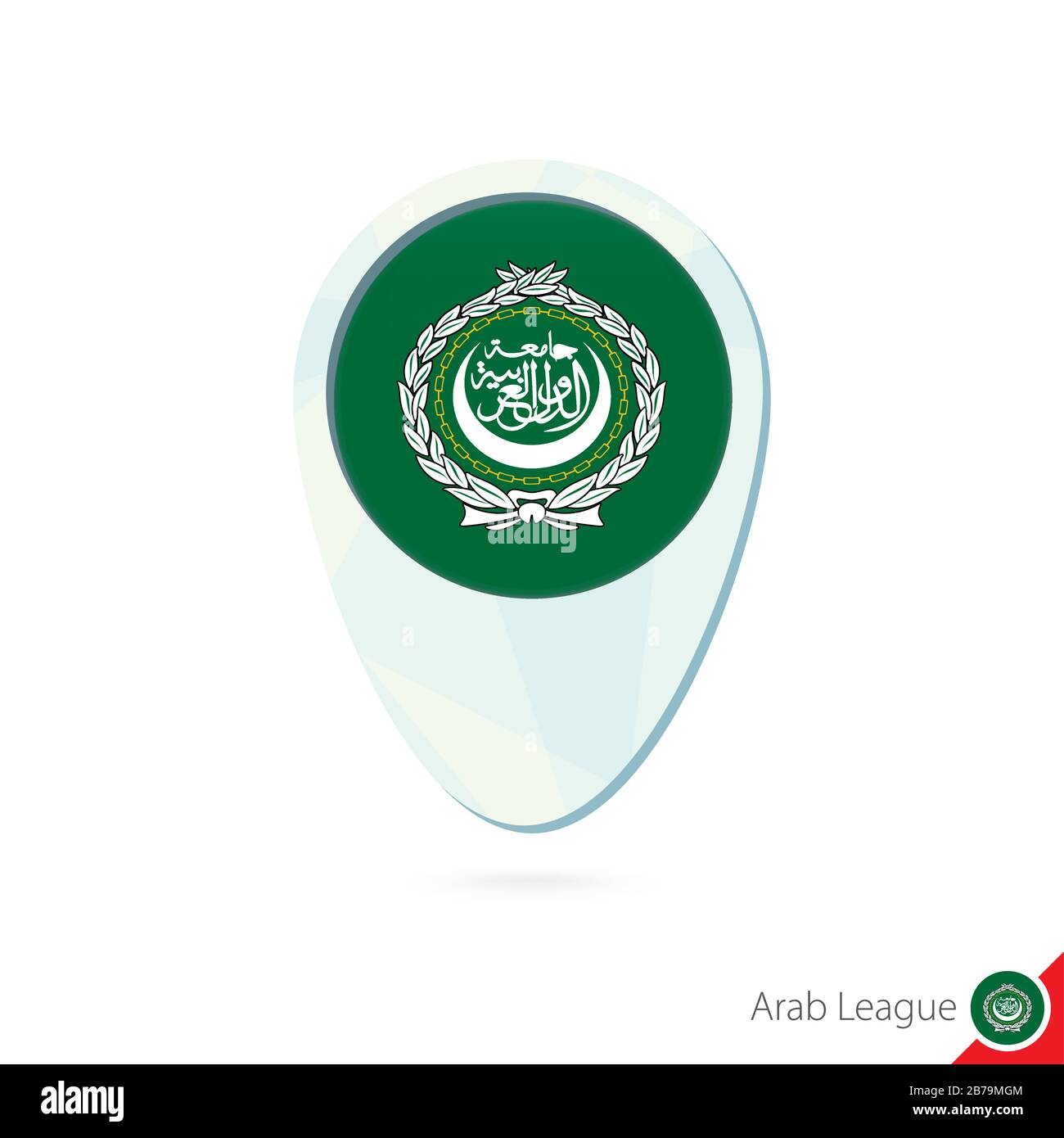 Picture of: Arab League Flag Location Map Pin Icon On White Background Vector Illustration Stock Vector Image Art Alamy