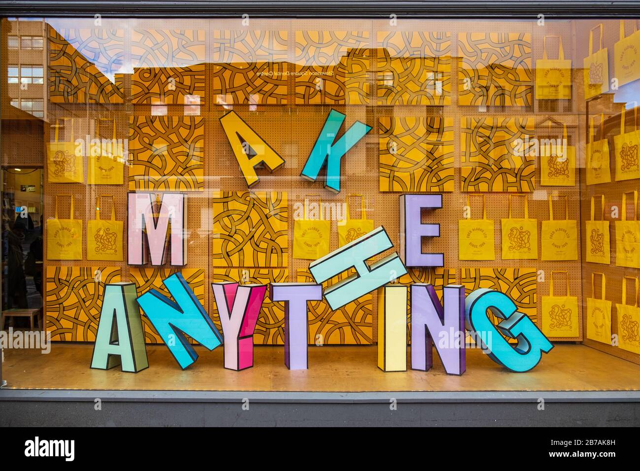 Manchester, United Kingdom - March 1, 2020: Shop window of Fred Aldous Art and Craft Shop in Manchester Stock Photo