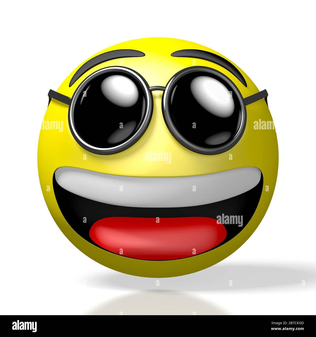 3d Emoji Emoticon Cool Sunglasses Stock Photo Alamy