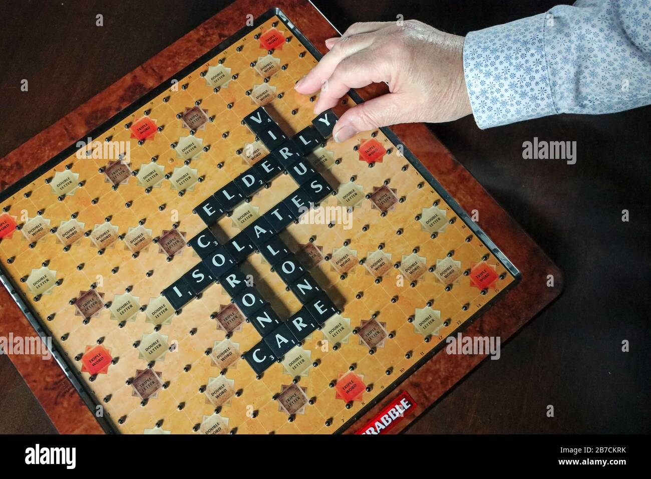 Board Games Might Help The Elderly Through Coronavirus Imposed Isolation Stock Photo Alamy