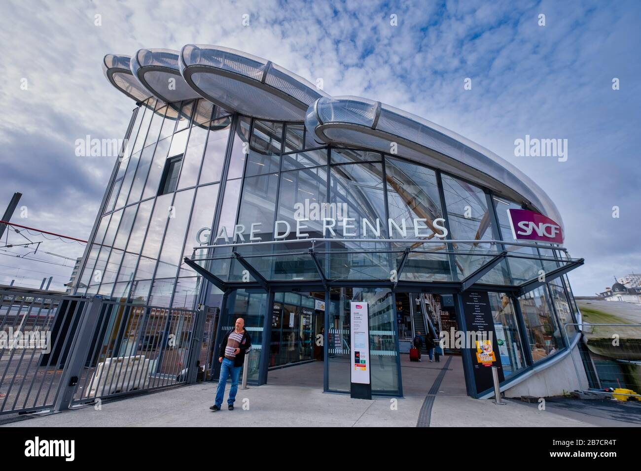 Gare De Rennes Sncf Train Station In Rennes France Europe Stock Photo Alamy