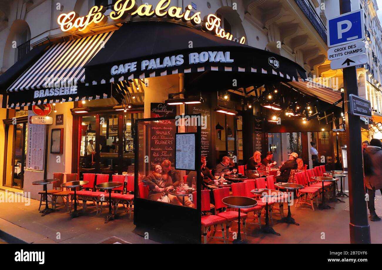 https www alamy com located in the 1st arrondissement in the city epicentre cafe palais royal rubs shoulders with the most well known french cultural heritage sites in image348816922 html